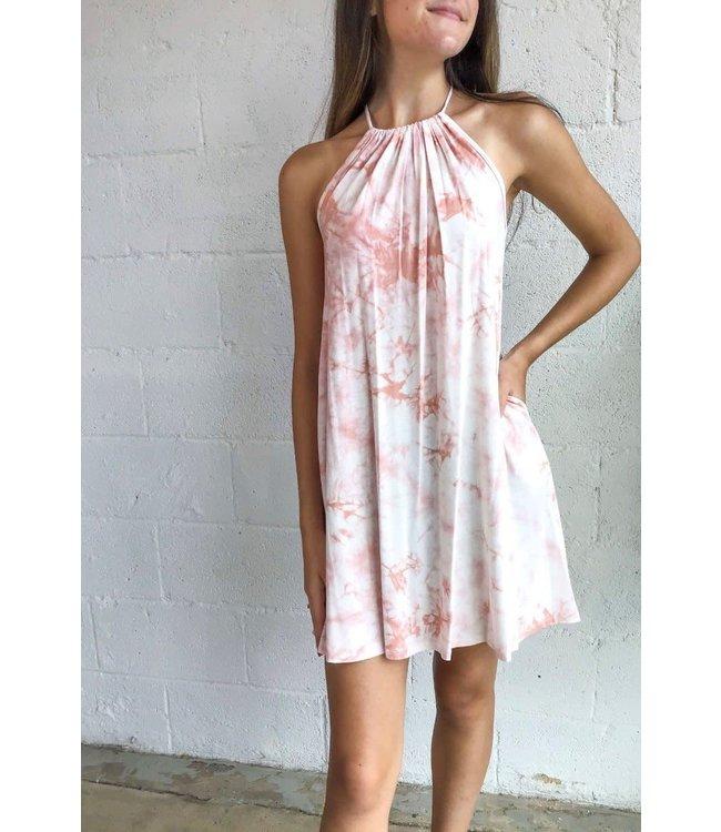 Hourglass Tie Dye Halter Dress