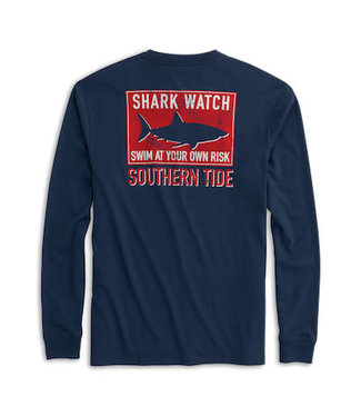 Southern Tide Shark Watch Long Sleeve Tee