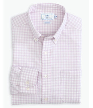 Southern Tide Skipjack Heather Gingham Button Down Shirt