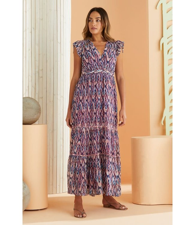 Marie Oliver Dezie Ruffle Maxi Dress