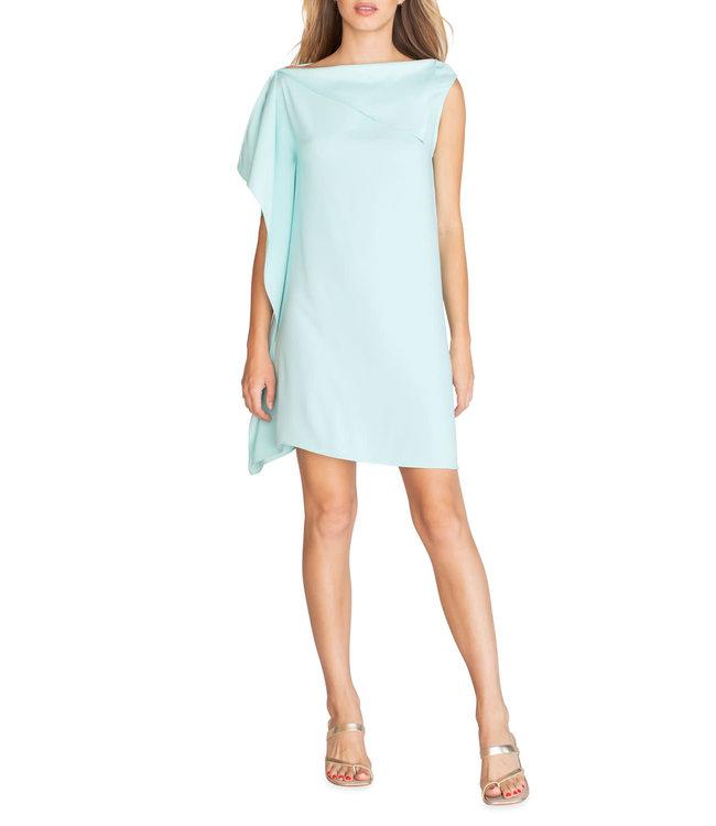 Trina Turk Asymmetrical Side Ruffle Ellyson Shift Dress