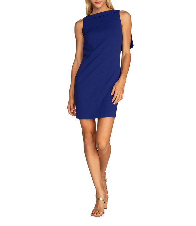Trina Turk Chain Capelet Shift Dress