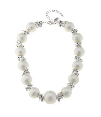 Susan Shaw Cotton Pearl Link Necklace