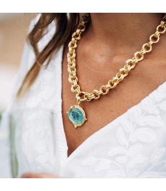 Susan Shaw Venetian Glass Bee Necklace