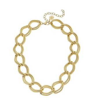 Susan Shaw Double Linked Loop Chain Necklace