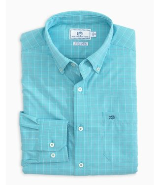 Southern Tide Brrr Glen Plaid Intercoastal Oxford Shirt