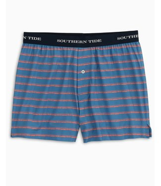 Southern Tide Distressed Stripe Performance Boxer Shorts