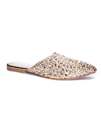 42 Gold Charmed Leather Mule