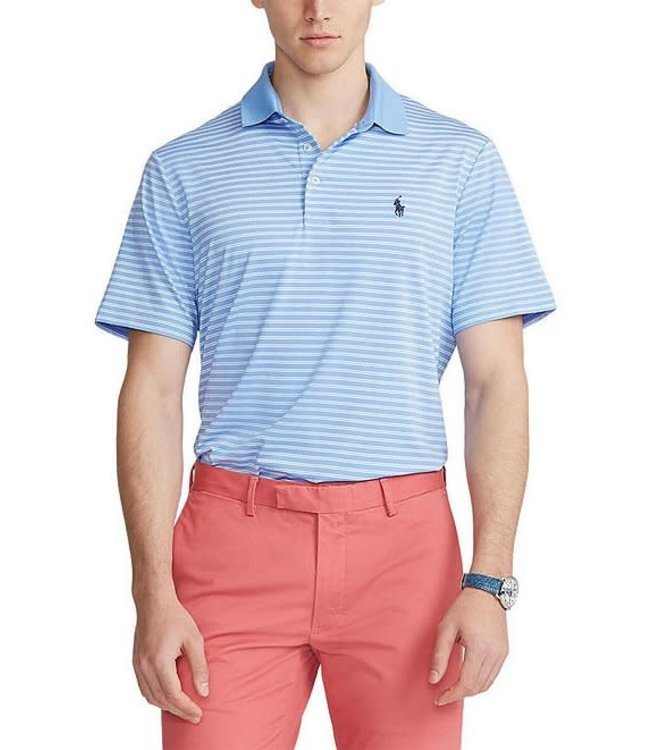 Polo Ralph Lauren Stripe Classic Fit Jersey Recycled Materials Performance Polo Knit Shirt