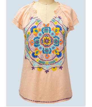 Ivy Jane Medallion Embroidered Top