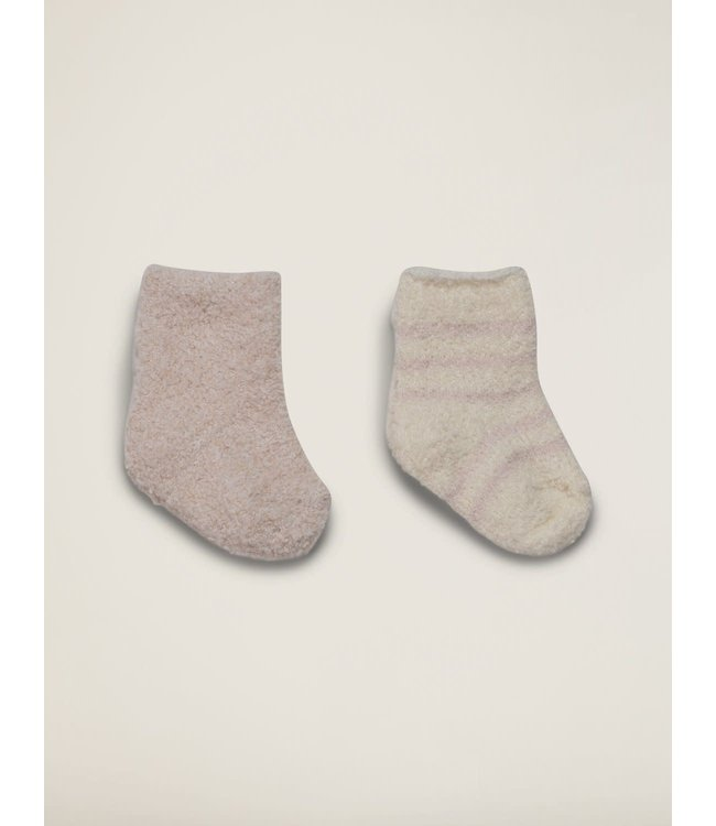 Barefoot Dreams CozyChic 2 Pair Infant Socks