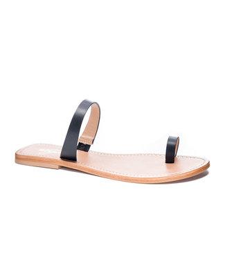 42 Gold Zolo Leather Slide Sandal