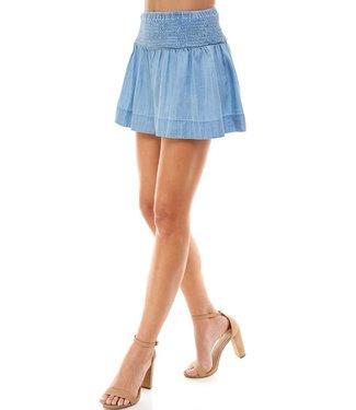 TCEC Tencel Smock Waist Shorts