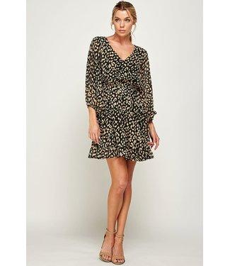 Caramela Leopard Ruffle Dress