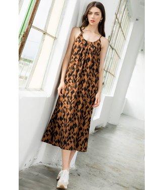THML Animal Print Maxi Dress