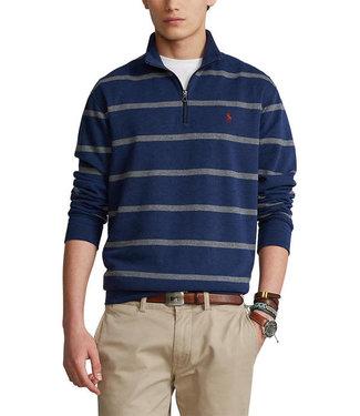 Polo Ralph Lauren Luxury Jersey Stripe Half-Zip Pullover Sweater