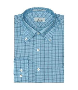 Cooper & Stewart Aiken Plaid Button Down Dress Shirt