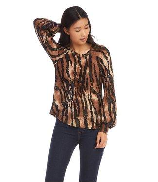 Karen Kane Shirred Sleeve Top