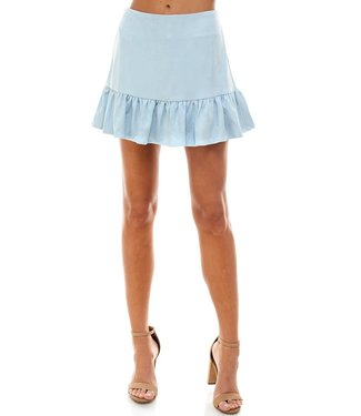 TCEC Suede Ruffle Skirt