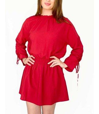 130 Cole   Colletta Coop Elastic Waist Tie Dress