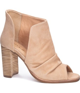 42 Gold 42 Gold Loyalty Kid Suede Peep Toe Bootie
