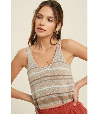 Wishlist Stripe Sleeveless Sweater