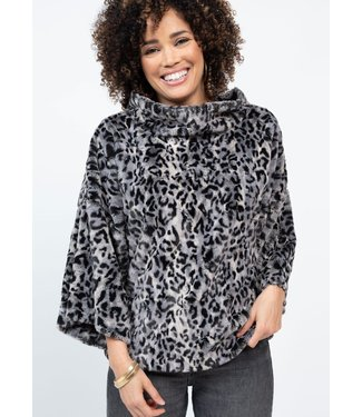 Ivy Jane Ivy Jane Leopard Fur Popover Top