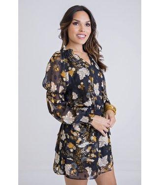 Karlie Karlie Floral Dot Smock Waist Dress