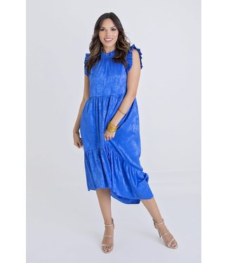 Karlie Karlie Satin Ruffle Midi Dress