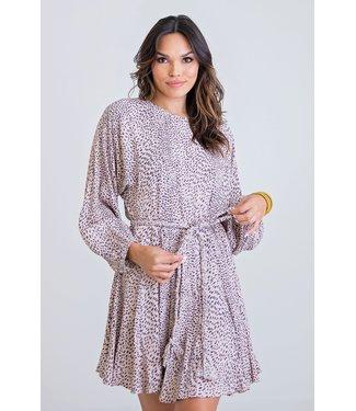Karlie Karlie Leopard Print Braid Belt Dress