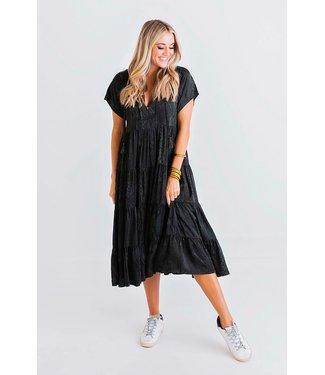 Karlie Karlie Snake Tiered Midi Dress