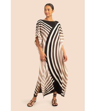 Trina Turk Theodora Ombre Circle Silk Maxi Dress