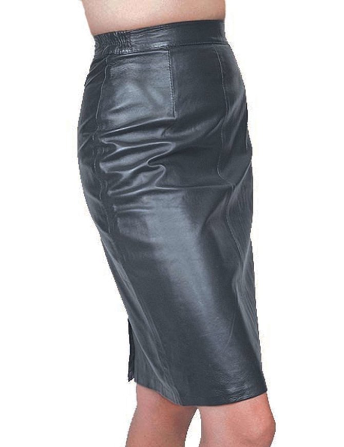 "Jamin Leather 24"" Long Lambskin Leather Skirt #SK24"