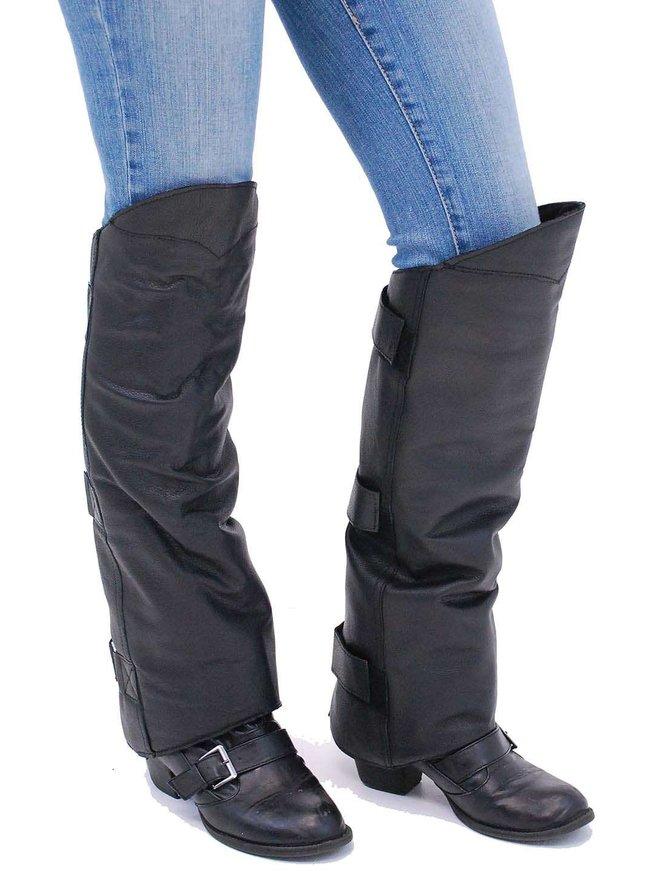 Heavy Leather Shin Chaps #A199K