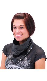 Jamin Leather Leather Scarf w/Chrome Rivet Studs Trim #A13061RK