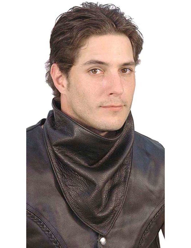 Fleece Lined Naked Leather Scarf #A4SCARF