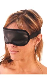 USA Brand Black Leather Blindfold #A604BF