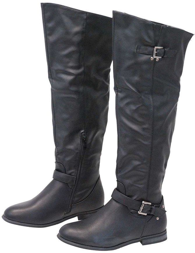 Tall Women's Engineer Boots w/Zipper #BLC01LIZ
