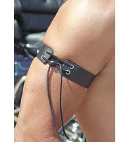 Made in USA Men's Lace Up Leather Arm Band #AB10213