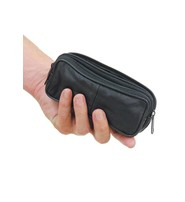 Black Leather Eyeglass Case Belt Pouch #AC112EC