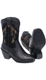 Ride Tec Cow Hair Boots w/Leather Snake Embossed & Wing Design #BL8547WWK