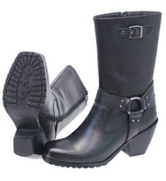 Ride Tec Leather Zip Harness Boots For Women w/Cowboy Heel #BL8548HK