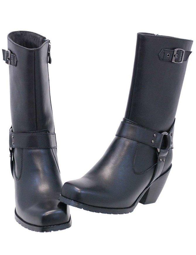 Ride Tec Leather Zip Harness Boots For Women w/Cowboy Heel #BL8548HK