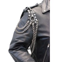 Made in USA Extra Long Leather Epaulet Chains #AE16024CRK