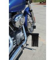 USA Brand Black Leather Fringe Foot Peg Covers #AFP130700FK