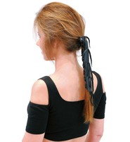 Jamin Leather Extra Long Black Leather Hair Tube #AHW0093K