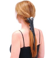 Jamin Leather Short (5.5 Inch) Fringed Leather Hair Wrap #AHW13112FK