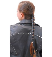 USA Brand Extra Long 11 Inch Leather Hair Wrap #AHW182L
