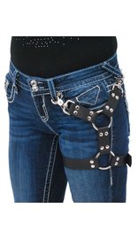 USA Brand Leather Leg Harness w/Large O-Rings #AKK101LEG