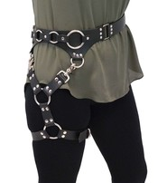 USA Brand Leather Leg Harness w/Large O-Rings #AKK101LEG